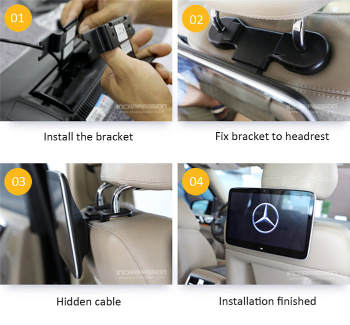 Plug and Play Rear Seat Entertainment System for Mercedes C E GLC