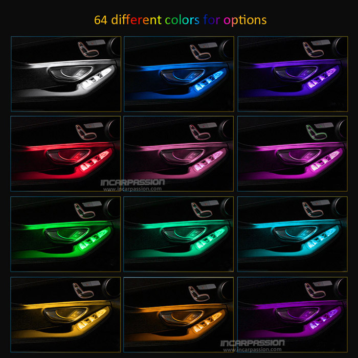3 Colors & 64 Colors Ambient light for Mercedes Benz C Class