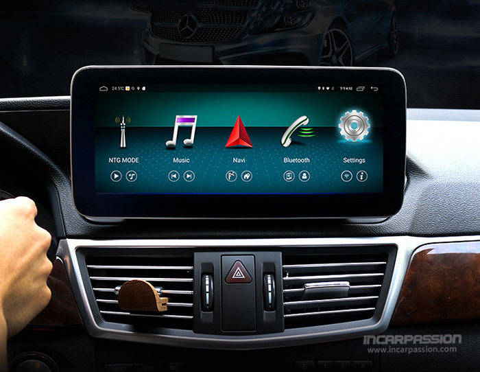 10 25'' MBUX UI Android 8 1 GPS Navigation System for