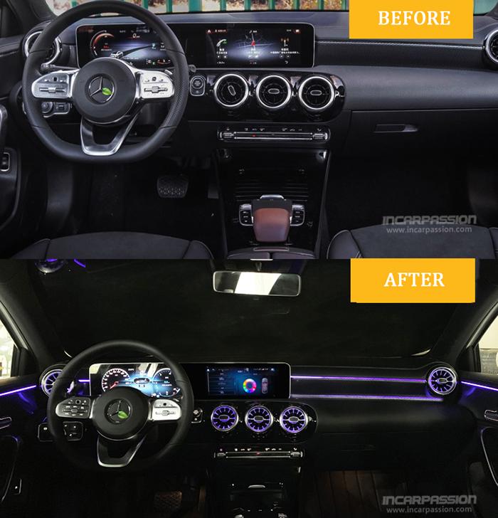 Mercedes Benz A Class 2019 W177 64 Colors Ambient Light