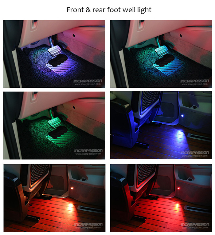 How Do Led Lights Work >> Mercedes V Class 64 Colors Ambient Light & Footwell Light