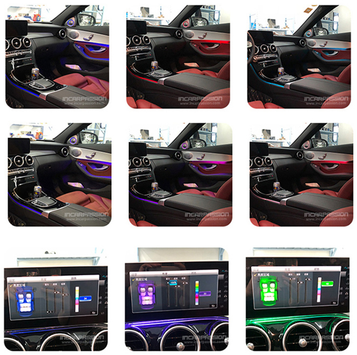64 Colors Ambient Light For Mercedes C Class W205 2019 GLC