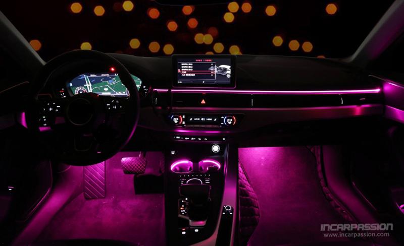 Audi A4 B9 A5 S5 OEM Design 32 Colors Ambient Light   Audi A5 2017 Ambient Lighting      Incarpassion